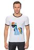 "Футболка ""Рингер"" (Мужская) ""My Little Pony - Rainbow Dash (Радуга)"" - радуга, pony, rainbow dash, mlp, пони"