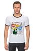 """Футболка """"Рингер"""" (Мужская) """"Warhol - Basquiat"""" - энди уорхол, andy warhol, basquiat, баския"""