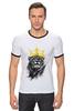 """Футболка Рингер """"Король Лев"""" - животные, корона, лев, царь зверей"""