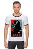 "Футболка ""Рингер"" (Мужская) ""Darth Vader - Hate"" - star wars, darth vader, звездные войны, дарт вейдер"