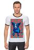"""Футболка """"Рингер"""" (Мужская) """"Синий Пес"""" - любовь, сердца, собака, синий пес, blue dog"""