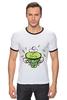 """Футболка """"Рингер"""" (Мужская) """"Зеленый чай"""" - весна, spring, зеленый чай, green tea, весенний"""