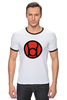 """Футболка Рингер """"красный фонарь"""" - comics, red, мультфильм, белый, красный, комиксы, кино, белая, мульт, dc"""