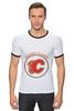 "Футболка Рингер ""Calgary Flames,"" - хоккей, nhl, нхл, калгари флеймз, calgary flames"