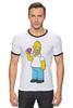 """Футболка """"Рингер"""" (Мужская) """"Homer Simpsons"""" - прикольные"""