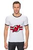 """Футболка Рингер """"Нью-Джерси Девилс """" - хоккей, nhl, нхл, нью-джерси девилс, new jersey devils"""