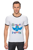 "Футболка Рингер ""Sweet tweets"" - social network, twitter, твиттер, little bird, чирикать, микроблоггинг"