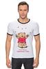 """Футболка Рингер """"Happy Valentnine's Day"""" - медведь, день святого валентина, мишка, обними меня, hug me"""