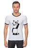 "Футболка ""Рингер"" (Мужская) ""Панда вандал"" - животные, панда, panda, wwf"
