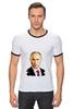 "Футболка ""Рингер"" (Мужская) ""Владимир Путин"" - путин, президент, putiin"