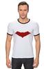 """Футболка """"Рингер"""" (Мужская) """"Красный колпак (Red Hood)"""" - batman, бэтмен, красный колпак, red hood"""