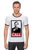 "Футболка ""Рингер"" (Мужская) ""Better call Saul"" - obey, better call saul, лучше звоните солу, сол гудман"