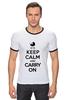 """Футболка """"Рингер"""" (Мужская) """"Keep calm & Carry on"""" - 8 марта, baby, маме, мама, keep calm"""