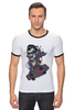 "Футболка Рингер ""Дракула на Скейте"" - skate, dracula"