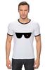 "Футболка Рингер ""Очки Терминатора"" - очки, терминатор, арни, шварц, the terminator"