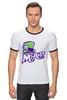 "Футболка ""Рингер"" (Мужская) ""Безумный Шляпник (Mad Hatter)"" - mad hatter, безумный шляпник"