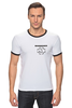 "Футболка ""Рингер"" (Мужская) ""Logo rammstein"" - rammstein, рамштайн, раммштайн"