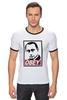 "Футболка Рингер ""Путин OBEY"" - стиль, россия, russia, путин, президент, swag, obey, putin"