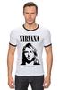 "Футболка ""Рингер"" (Мужская) ""Nirvana"" - гранж, nirvana, kurt cobain, курт кобейн, нирвана"