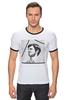 """Футболка Рингер """"Belmondo"""" - портрет, kinoart, belmondo, бельмондо, жан-поль бельмондо"""