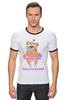 """Футболка Рингер """"Хочу на ручки!"""" - сердце, pug, гламур, собачки, мопс"""