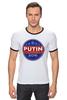 "Футболка ""Рингер"" (Мужская) ""Путина в президенты Америки (2016)"" - usa, путин, сша, putin"