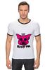 """Футболка Рингер """"The Blind Pig #2"""" - прикол, супер, рисунок, pink, новое, свинья, blind, слепой, pig"""