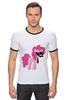 "Футболка ""Рингер"" (Мужская) ""My Little Pony - Пинки Пай (Pinkie Pie)"" - pony, mlp, пони, пинки пай"