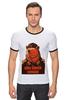 """Футболка Рингер """"Comrade"""" - bear, медведь, погоны, товарищ"""