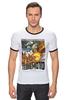 "Футболка Рингер ""Terremoto"" - винтаж, динозавры, афиша, kinoart, легенда о динозавре"