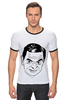 """Футболка Рингер """"футболка """"Мистер Бин"""""""" - прикол, портрет, мистер бин"""