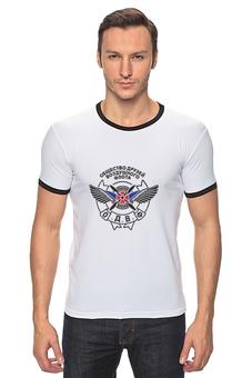 """Футболка Рингер """"Общество друзей Воздушного флота"""" - авиация, купить футболку патриотическую, купить футболку в москве, одвф, общество друзей воздушного флота"""