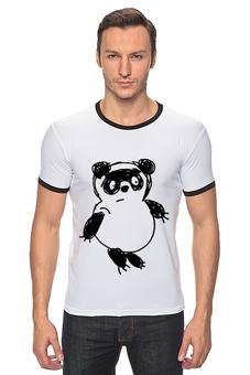 """Футболка """"Рингер"""" (Мужская) """"Медведь"""" - медведь, мишка, винни-пух"""
