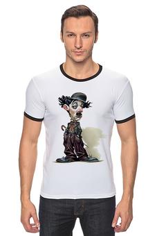 """Футболка Рингер """"Charlie Chaplin"""" - charlie chaplin, комик, юмор, чарли чаплин, кино"""