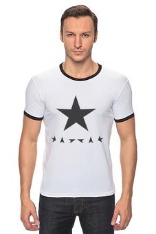 "Футболка Рингер ""Black Star "" - black star, дэвид боуи, david bowie"
