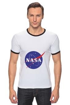 "Футболка Рингер ""NASA | НАСА"" - звезды, космос, nasa, футболка космос, одежда космос"