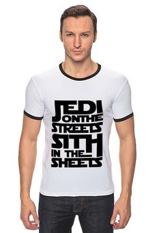"""Футболка Рингер """"Jedi x Sith (Star Wars)"""" - star wars, звёздные войны, джедаи, ситхи"""