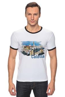 """Футболка Рингер """"Calella"""" - рисунок, город, иллюстрация, скетч, испания"""