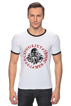 """Футболка """"Рингер"""" (Мужская) """"Вальхалла"""" - свобода, викинги, vikings, вальхалла, путь воина"""
