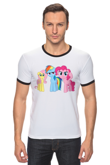"""Футболка Рингер """"My Little Pony friendship is magic"""" - популярные, pony, my little pony, пони"""