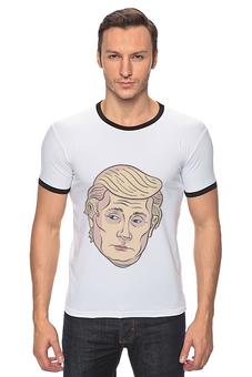 """Футболка Рингер """"Путин Трамп"""" - путин, сша, президент, трамп, дональд трамп"""