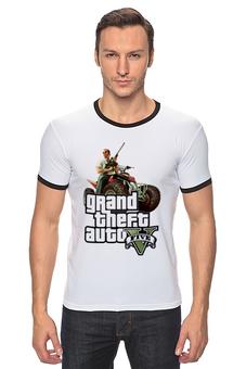 """Футболка """"Рингер"""" (Мужская) """"GTA 5 Trevor"""" - games, игры, gta 5, гта 5, тревор"""