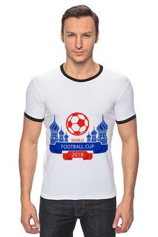 "Футболка Рингер ""Футбол"" - футбол, спорт, мяч, 2018"