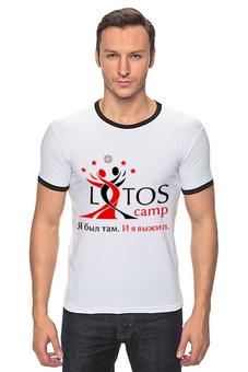 """Футболка Рингер """"Lotos Camp - Я выжил"""" - лотос, тск лотос, lotos camp"""