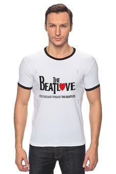 "Футболка ""Рингер"" (Мужская) ""Beatlove"" - beatles, beatlove, трибьют beatles"