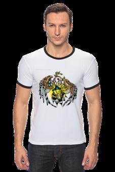 """Футболка """"Рингер"""" (Мужская) """"Сова                                    """" - авторские майки, стиль, оригинально, футболка мужская, сова"""