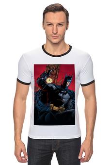 "Футболка Рингер ""Бэтмен"" - комиксы, batman, бэтмен, dc, dc comics"