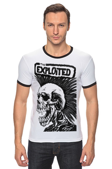 "Футболка ""Рингер"" (Мужская) ""The Exploited"" - punk rock, rock"