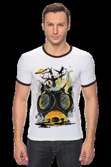 """Футболка Рингер """"Постапокалиптический"""" - арт, авторские майки, стиль, популярные, прикольные, оригинально, футболка женская, креативно"""