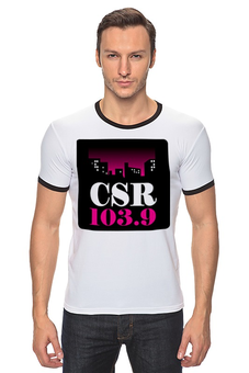 "Футболка Рингер ""CSR 103.9"" - gta, san andreas, radio, csr"